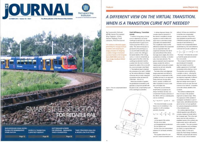 PWI_Permanent_Way_Institution_The_Journal_133-4_Virtual_Transition_article_Pway_horizontal_alignment_constant_cant_railway_railroad_track_deficiency_rate_of_change_EN13803-2_RIL_800.0110